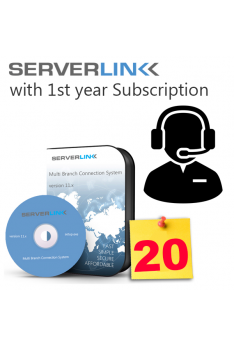 ServerLink 20 User with 1st Year Annual Subscription