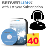 ServerLink 40 User with 1st Year Annual Subscription