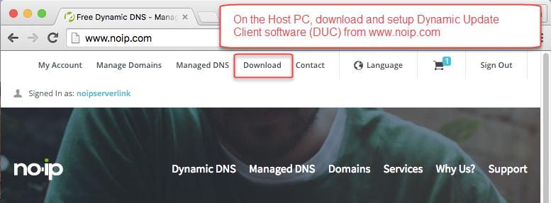 How to setup NOIP Dynamic Hostname